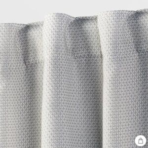 Threshold Accents - Threshold Small Gray Check Blackout Curtain Panel